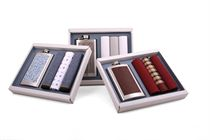 Gift set men´s luxury handkerchiefs made with flask. A perfect gift for any man - 3 pcs ( code M 26 )