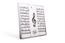 Gift set men´s hand printed handkerchiefs with musical motives - 3 pcs. ( code M59 )