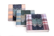 A set of two printed and two working handkerchiefs in a box - 4 pcs ( code M 08 )