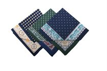 LAST PIECES IN STOCK! A set of men´s printed handkerchiefs in a polybag - 2 pc. ( code M42 )