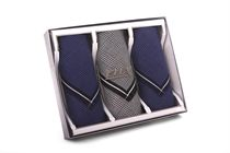 Gift set men´s luxury colored woven handkerchiefs in an exclusive box - 3 pcs. ( code M55 )