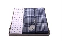 Gift set men´s luxury handkerchiefs - one hand printed in color with the two multicolored woven - 3 pcs ( code M 39 )