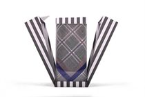 Gift set men´s luxury handkerchiefs in an exclusive box with closing on magnet - 3 pcs ( code M 54 )