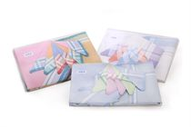 A set multicolored woven ladies handkerchiefs in a box - 6 pcs ( code L 14 )