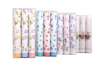 A set printed ladies handkerchiefs in a box - 3 pcs ( code L 04 )