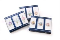 Gift set luxury ladies embroidered handkerchiefs with satin atlas in a traditional box Vassini Lux - 3 pcs ( code L 33 )