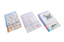 A set of printed ladies handkerchiefs in polybag - 6 pcs ( code L 26 )
