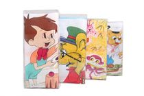 A set of children´s printed handkerchiefs in the box - 3 pcs. ( code C03 )