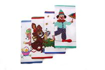 A set of children´s printed handkerchiefs in the polybag - 6 pcs ( code C 06 )