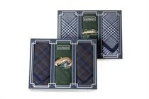 Dárková sada pánských kapesníků - kombinace vyšívaného kapesníku s dvěma kapesníky pestře tkanými, rybářské motivy (sumec, štika, okoun - 3 ks ( kód M 15 )