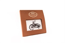 Gift hand-printed men´s handkerchief in Vintage Style with motive motorcycle - 1 pc. ( code M35 )
