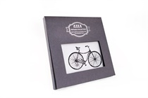 Gift hand-printed men´s handkerchief in Vintage Style with motive bicycle - 1 pc.  ( code M35 )