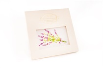 Gift hand-printed ladie´s handkerchief in Provence Style with motive lavender - 1pc.